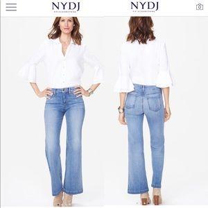 NWT NYDJ Wide Leg Trouser Jeans $119
